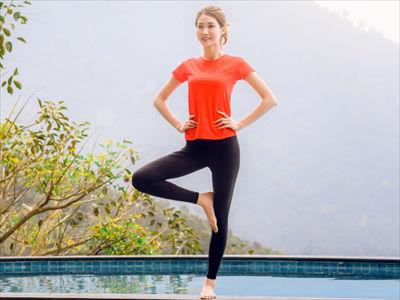 洋梨体型の片足立ち運動