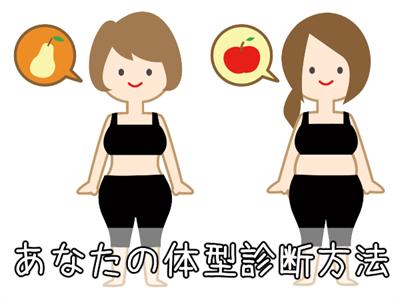 リンゴ型か洋梨型かの体型診断